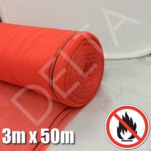 Flame Retardant Debris Netting - 3m x 50m - Red