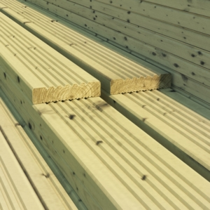 8ft (2.4m) Timeless Decking Board 32mm x 100mm Treated