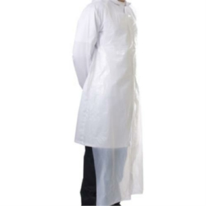 1000x White Disposable Aprons 20 Micron